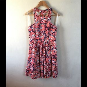 Anthro plenty by Tracy Reese coral floral dress